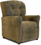 Kids Micro-Suede Recliner with Four Button Tufted Back - Brown Bomber [DZD10148-FS-DD]