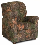 Kids 4 Button Tufted Back True Timber Fabric Recliner - Camo Green [DZD9975-FS-DD]