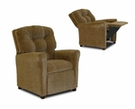 Kids Four Button Hot Chocolate Fabric Recliner [DZD10146-FS-DD]