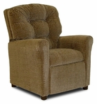 Kids Upholstered Recliner with Four Button Tufted Back - Hot Chocolate [DZD10146-FS-DD]