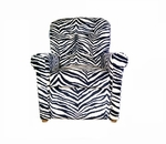 Kids Micro-Suede Recliner with Four Button Tufted Back - Zebra [DZD14080-FS-DD]
