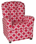 Kids Recliner with Button Tufted Back - Gotcha Red [400-GOTCHA-RED-FS-BZ]