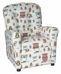 Kids Recliner with Button Tufted Back - Hooty Village [400-HOOTY-VILLAGE-FS-BZ]