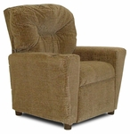 Kids Upholstered Theater Recliner with Cup Holder - Hot Chocolate [DZD10154-FS-DD]