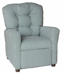 Kids Recliner with Button Tufted Back - Houndstooth [400-HOUNDSTOOTH-FS-BZ]