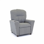 Kids Houndstooth Black/White Recliner [1300-1-HBL-FS-KW]