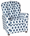 Kids Recliner with Button Tufted Back - JoJo Navy [400-JOJO-NAVY-FS-BZ]