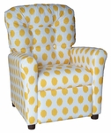 Kids Recliner with Button Tufted Back - JoJo Yellow [400-JOJO-YELLOW-FS-BZ]