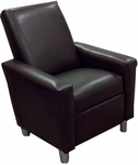 Kids Modern Faux Leather Recliner - Pecan Brown [DZD12046-FS-DD]