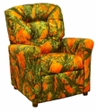 Kids Recliner with Button Tufted Back - True West Blaze