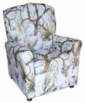 Kids Recliner with Button Tufted Back - True West Snow [400-TRUE-WEST-SNOW-FS-BZ]