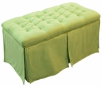 Kids Tufted Toy Box Minky Green