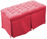 Kids Tufted Toy Box Minky Pink