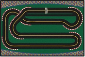 Kids Value Super Speedway Racetrack Rug - 3'W x 4'6''L