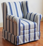 Kids Wingback Chair with Blue Ticking [K3837-A320-FS-DCON]