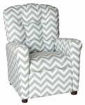 Kids Recliner with Button Tufted Back - Zig Zag Storm [400-ZIG-ZAG-STORM-FS-BZ]
