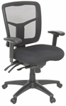 Kiera Fully Adjustable Mesh Back Swivel Chair with Casters - Black [5107BK-FS-REG]