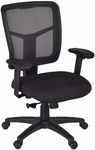 Kiera Height Adjustable Mesh Back Swivel Chair with Casters - Black [5103BK-FS-REG]