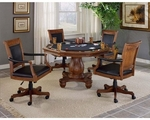 Kingston Wood 56.25''W x 32.75''H Multi Function Dining and Game Table - Light Cherry [6004GTB-FS-HILL]