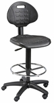 LabTek Height Adjustable Utility Drafting Chair - Black [DC249-FS-ALV]