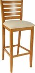 Ladder Back Bar Stool in Cherry Wood Finish [HTG-002-122-CHY-HC]