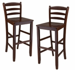 Ladder Back Bar Stools-Set of 2 [94249-FS-WWT]