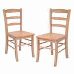 Ladder Back Chair-Set of 2 [34232-FS-WWT]