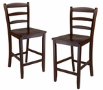 Ladder Back Counter Stools-Set of 2 [94244-FS-WWT]