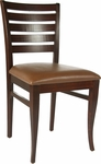 Ladder Back Side Chair in Medium Oak Wood Finish [HTG-001-122-MO-HC]