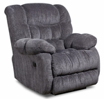 Laguna Transitional Style Polyester Power Recliner - Columbia Indigo Blue [189460-5861-PWR-FS-CHEL]