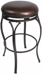 Lakeview 30'' Bar Height Backless Stool with Brown Vinyl Seat - Brown [4264-832-FS-HILL]