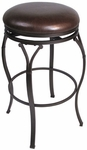Lakeview 24'' Counter Height Backless Stool with Brown Vinyl Seat - Brown [4264-828-FS-HILL]