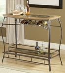 Lakeview 48''W x 41''H Powder Coated Steel and Ash Bar with Wine Rack - Brown and Medium Oak [4264-890-FS-HILL]