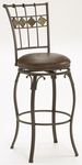 Lakeview 30'' Bar Height Stool with Brown Leather Swivel Seat - Brown [4264-830-FS-HILL]