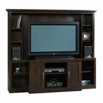 Large Wooden 62''H Home Theater with 7 Adjustable Shelves - Cinnamon Cherry [403932-FS-SRTA]