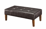 Large Faux Leather Coffee Table - Brown [550070-FS-DCON]