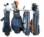 Powder Coated Steel Large Golf Bag Rack with 6 Storage Hooks [04006-FS-MBG]