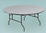 NLW Series Large Lightweight 72''Diameter Round Plastic Folding Table - 30''H [R72NLW-MFT]