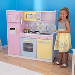 Kids Wooden Make-Believe Large Classic Kitchen Play Set - Pastel [53181-FS-KK]