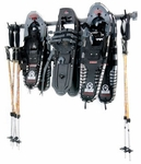 Powder Coated Steel Large Snowshoe Rack with 6 Storage Hooks [03002-FS-MBG]