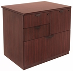 Legacy 29''H 4 Drawer Locking Wooden Lateral File Cabinet - Mahogany [LPCL3124MH-FS-REG]
