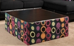 Lauren Contemporary Style 38.5''W x 38.5''D Coffee Table - Elpaso Black and Hollywood Fuchsia [201120-COFFEE-FS-CHEL]