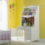 Lauren Traditional Wood 48''W x 31.5''H Scalloped Youth Desk - White [1528-779W-FS-HILL]