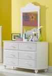 Lauren Traditional Wood 54''W x 33''H Dresser with 6 Dovetail Drawers - White [1528-717W-FS-HILL]
