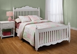 Lauren Traditional Wood Post Bed Set with Rails - Full - White [1528BFR-FS-HILL]