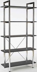 Laurence-5 Bookcase in Black [27851-FS-ERS]