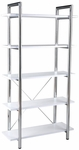 Laurence-5 Bookcase in White [27853-FS-ERS]