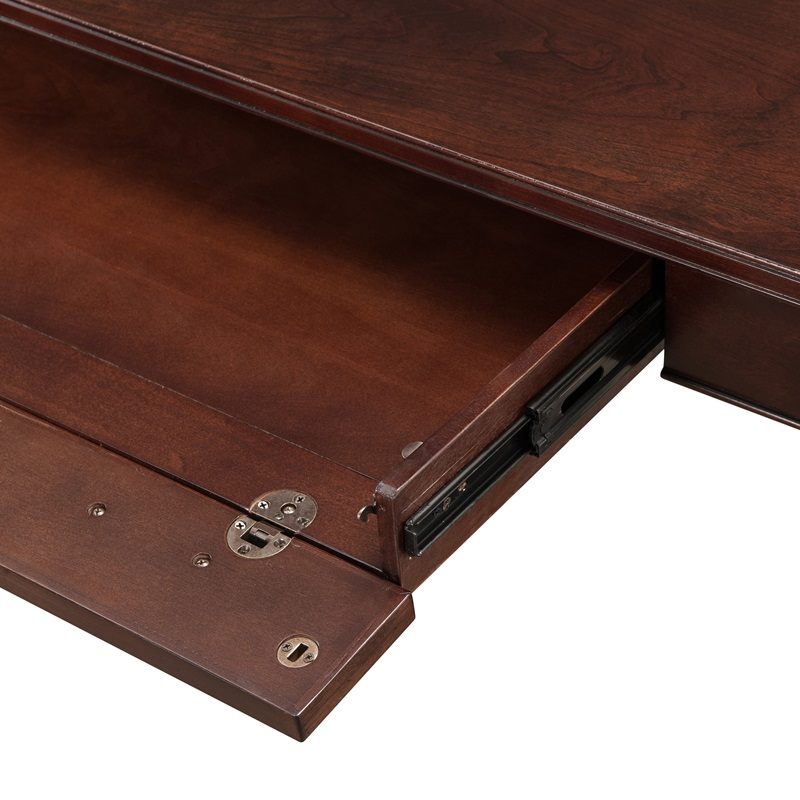 Laurent 48 W X 30 H Solid Wood Writing Desk With Pull