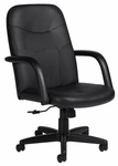 Luxhide Leather Managers Office Chair - Black [OTG11675-BL20-FS-GLO]