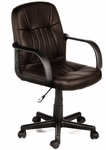 Leather Mid-Back Chair - Brown [60-5607M08-FS-COM]